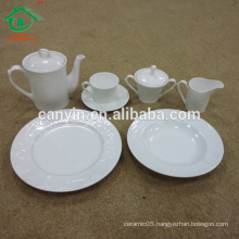 Wholesale customized cheap ceramic dinner set porcelain dinnerware set for restaurant